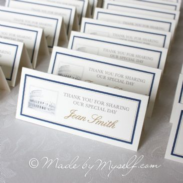 Travel Landmarks Place Card